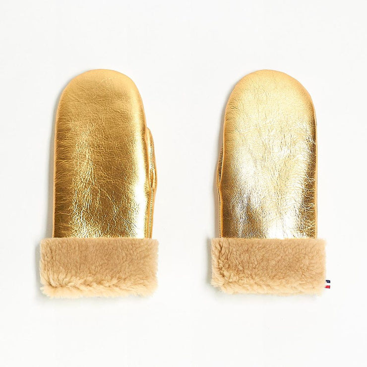 Mittens Metallic Gold