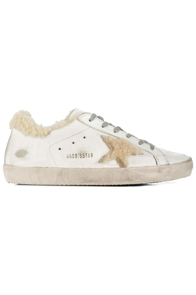 Superstar Sneakers White Shearling