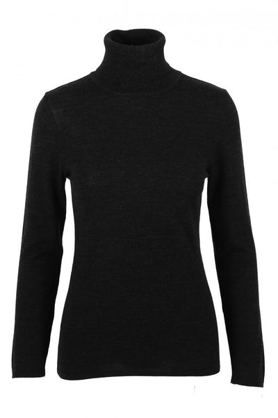 Merino Polo Black