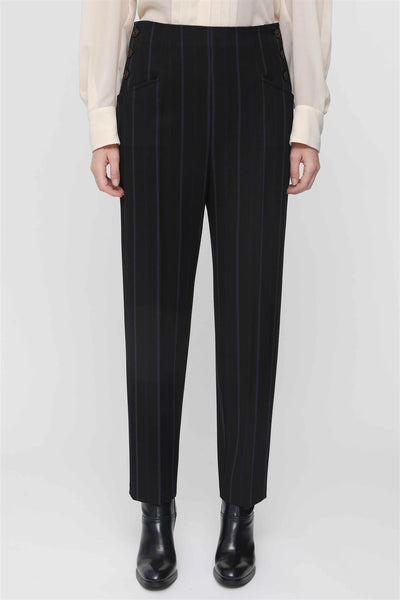 Striped Button Trousers