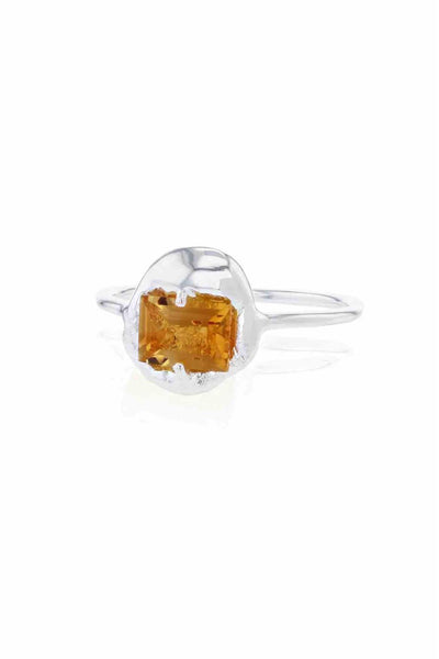 Fusion Substance Ring Silver Orange Nanogem