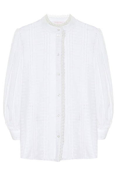 Puff-Sleeve Blouse White