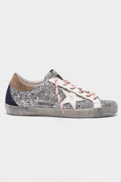 Superstar Sneakers R44 Silver Glitter