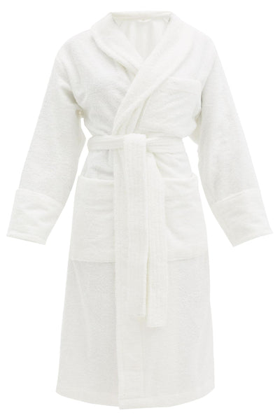 Classic Bathrobe Solid Paris White