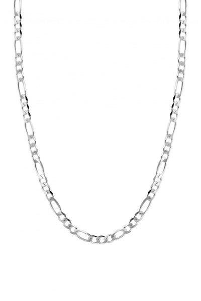 Flat Figaro Necklace Silver
