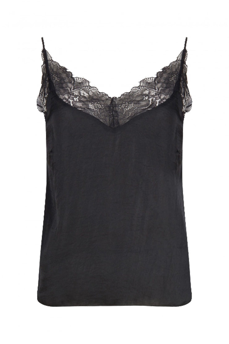 Camelia Camisole Cover up top Black Woven
