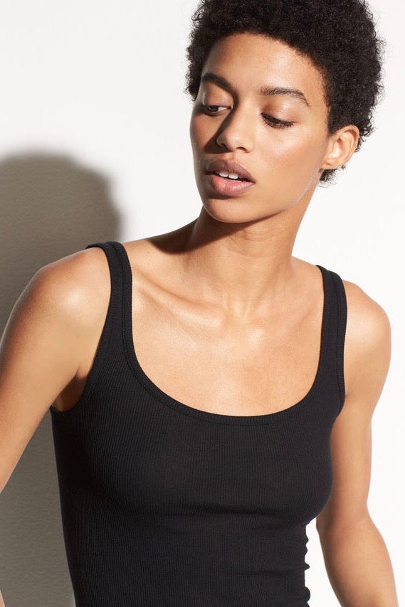 Scoop Neck Tank Black