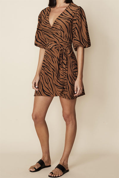 Marissa Wrap Dress Kenya Animal Print