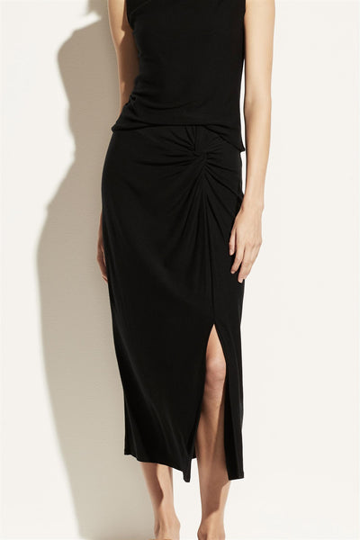 Twist Drape Skirt Black