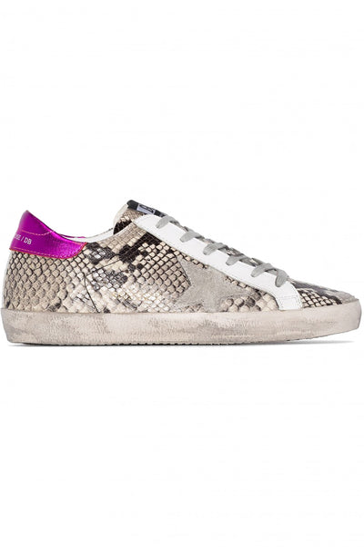 Superstar Sneakers P41Natural Snake Print Ice Star