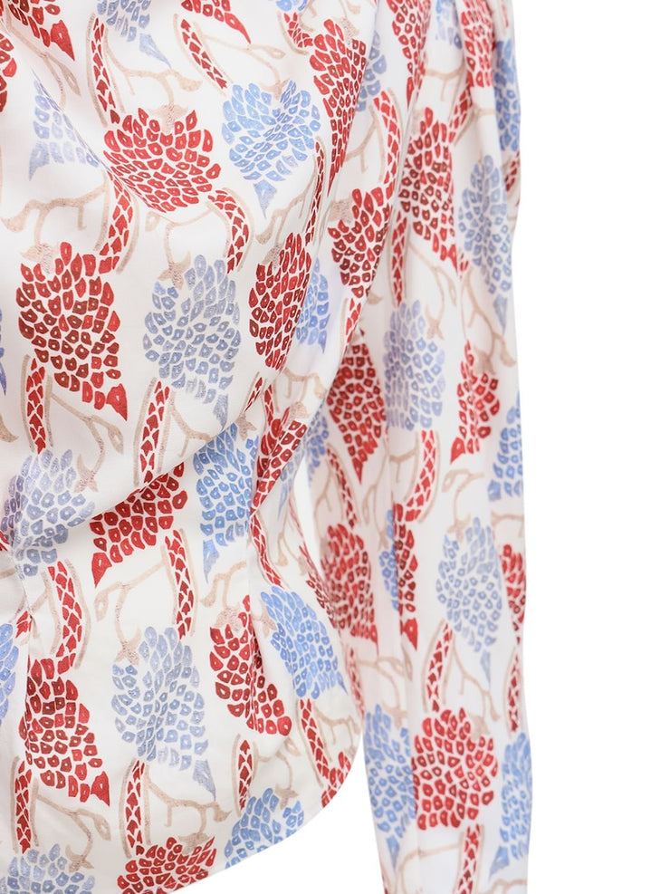 Bayani Top Modern Flowers Red