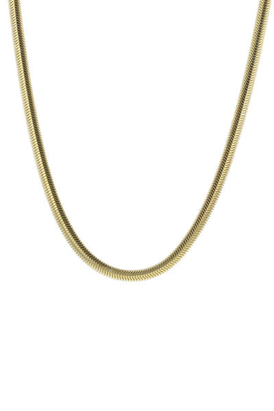 Snake Oval Flex Necklace Gold