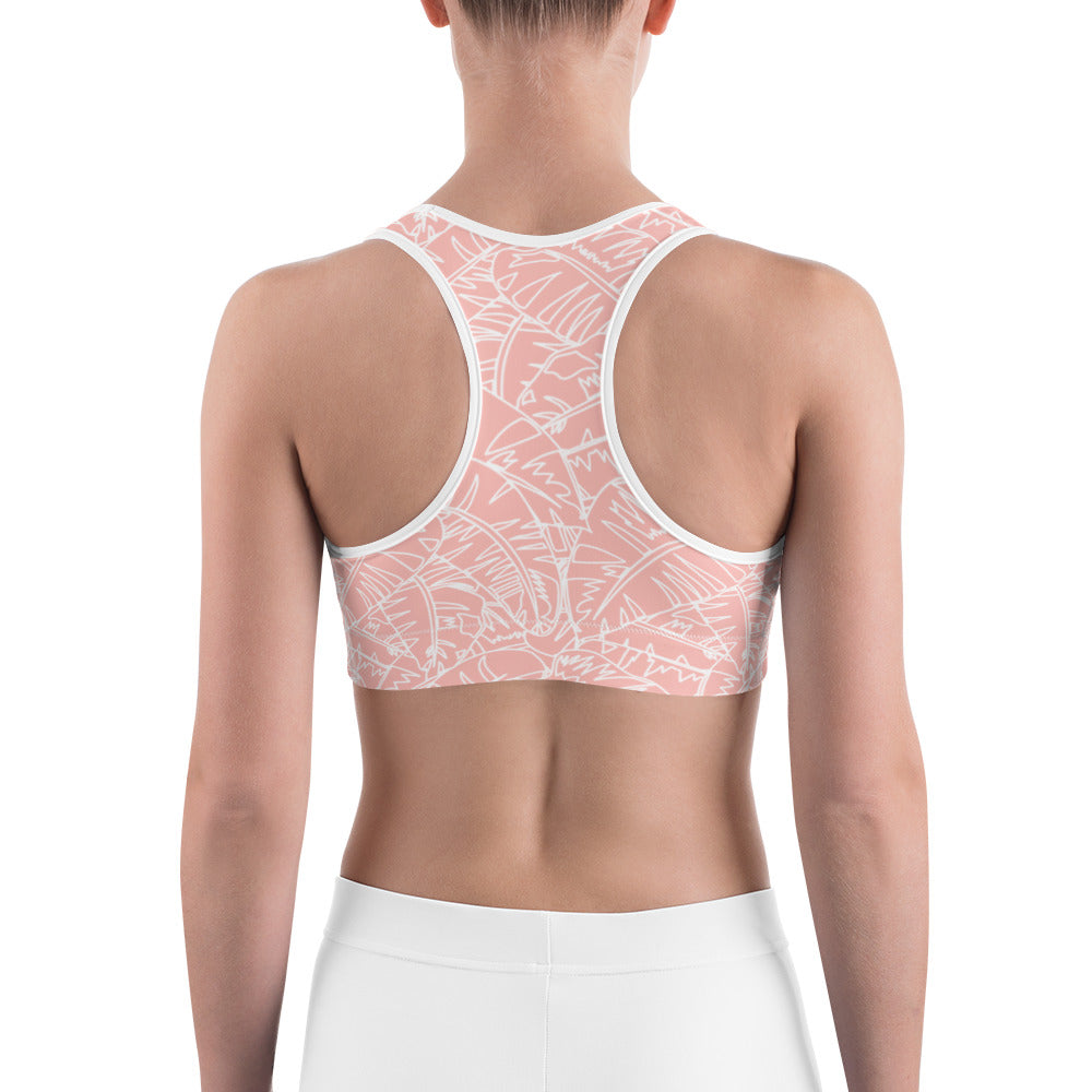 Blush Palm Sports bra