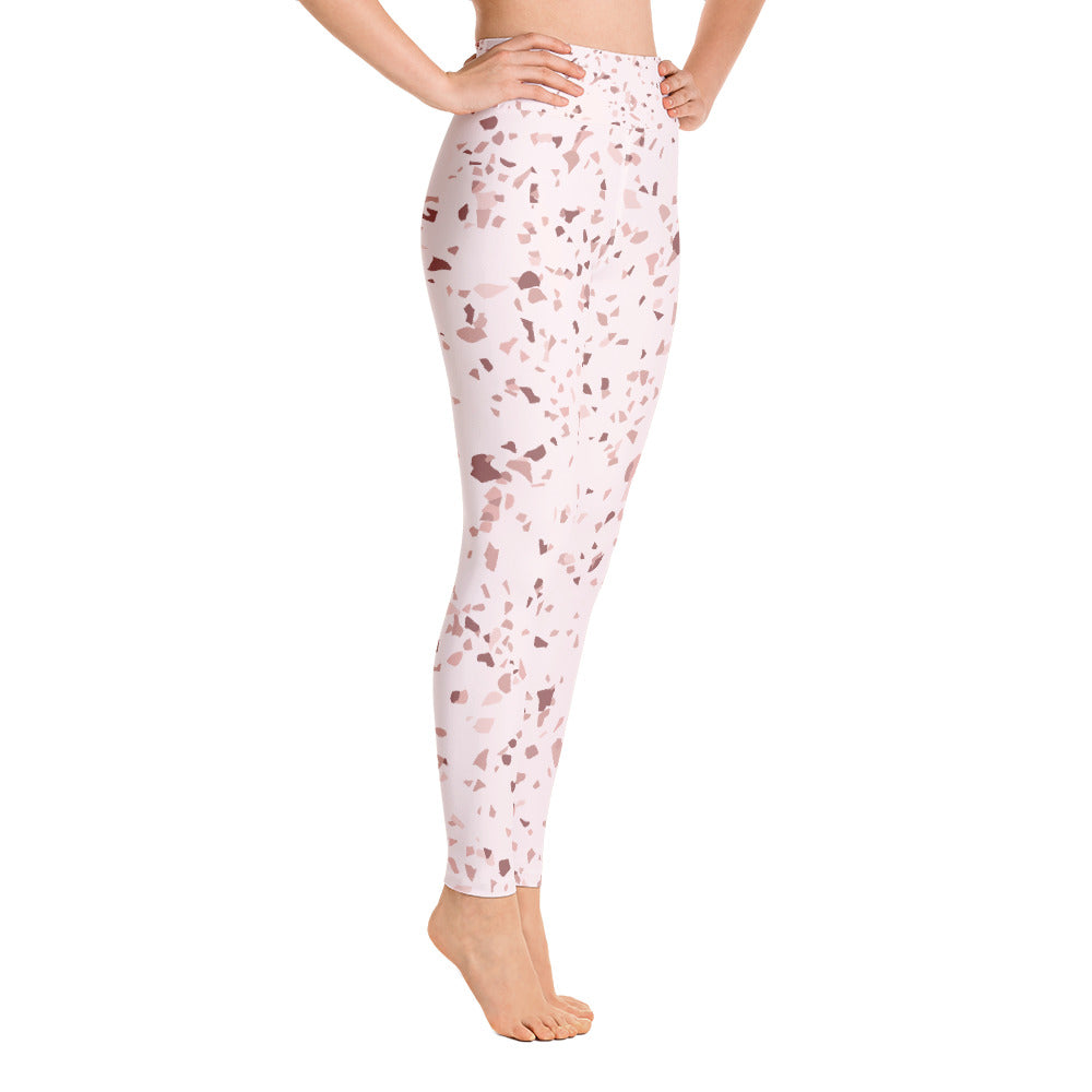 Blush Speckle Yoga Leggings