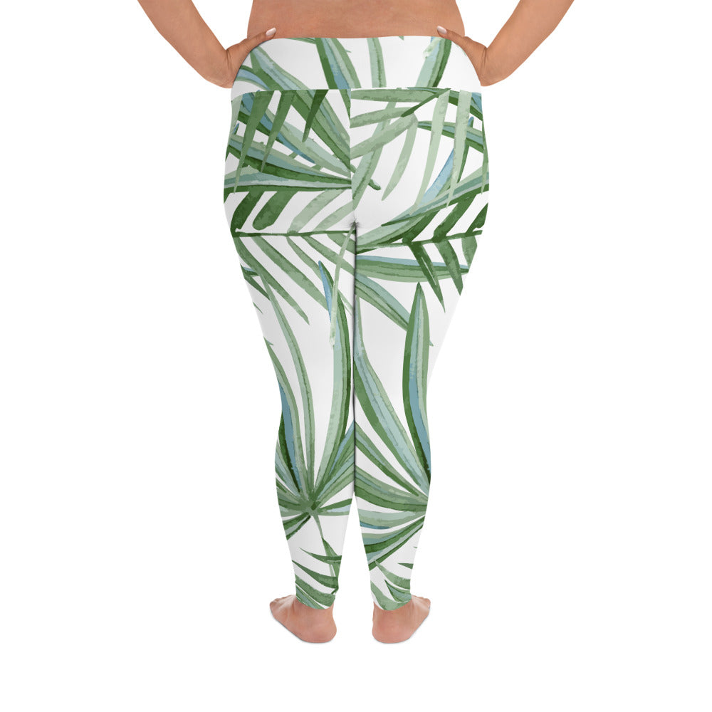 Coconut Palm Curves Yoga Leggings
