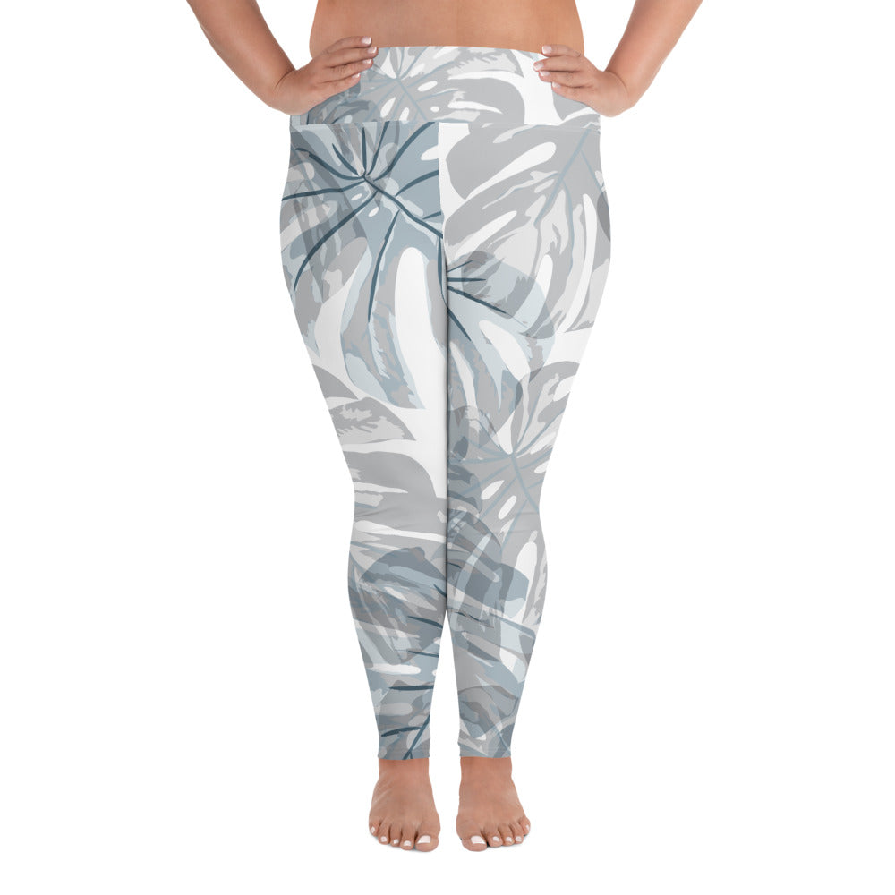 Botanical Leaf Curves Yoga Leggings