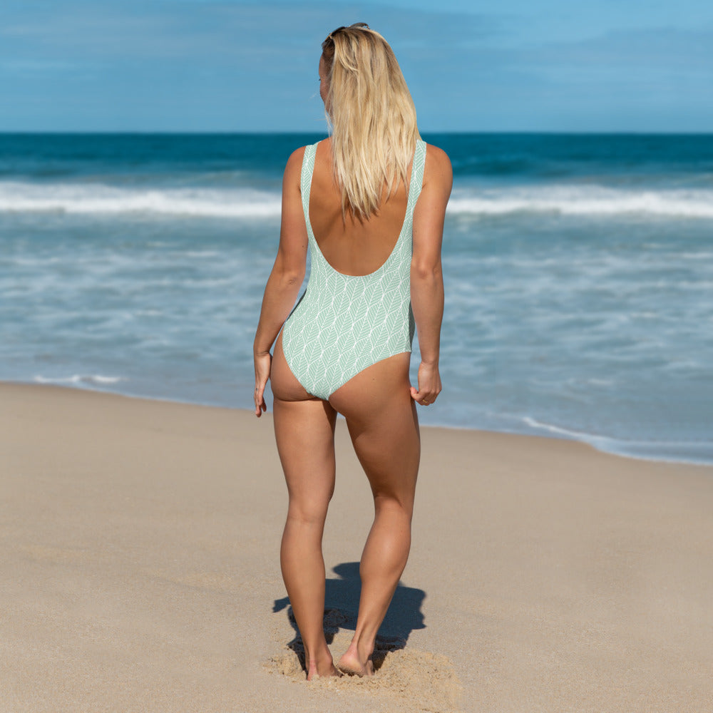 Mint Leaf One-Piece Swimsuit