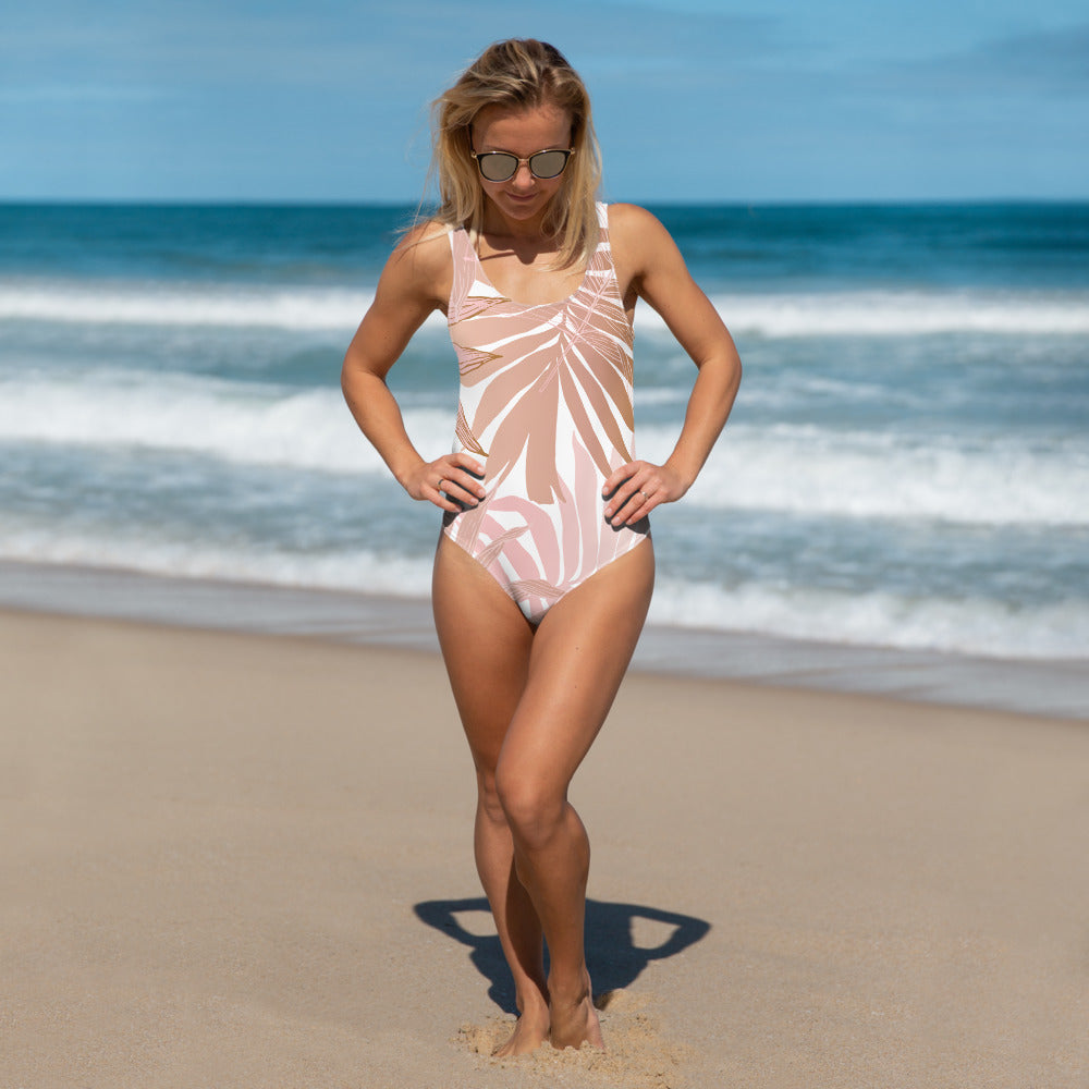 Dusky Palm One-Piece Swimsuit
