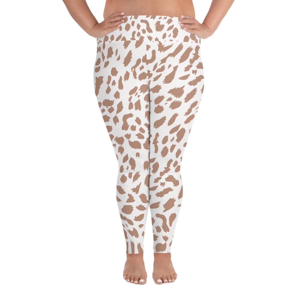 Nude Leopard Curves Yoga Leggings
