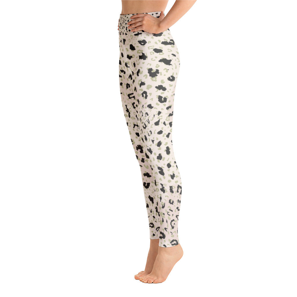 Blush Leopard Yoga Leggings