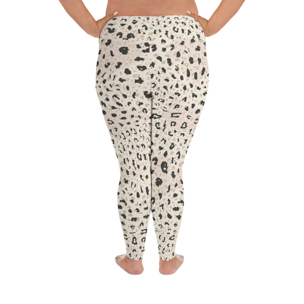Blush Leopard Curves Yoga Leggings