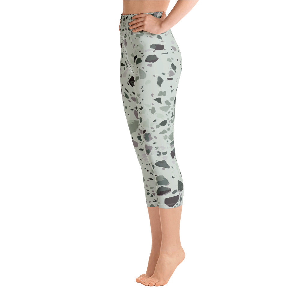 Sage Granite Yoga Capri Leggings