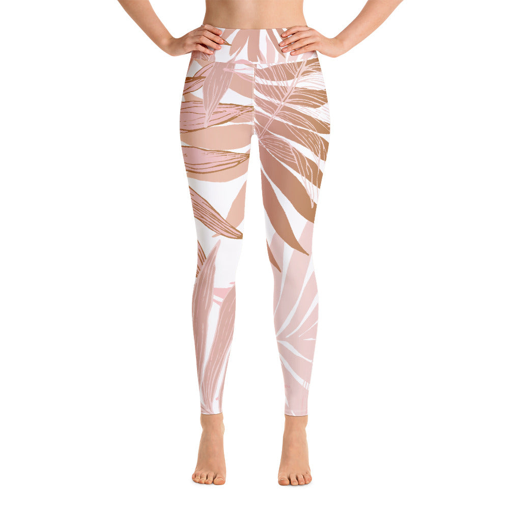 Dusky Palm Yoga Leggings