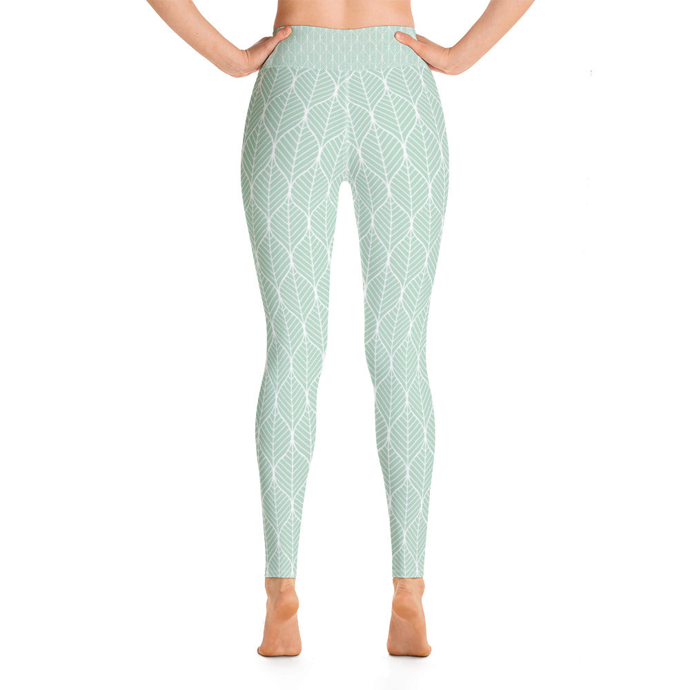 Mint Leaf Yoga Leggings