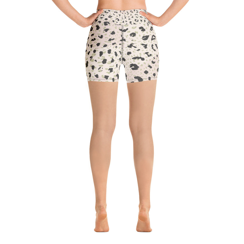 Blush Leopard Yoga Shorts