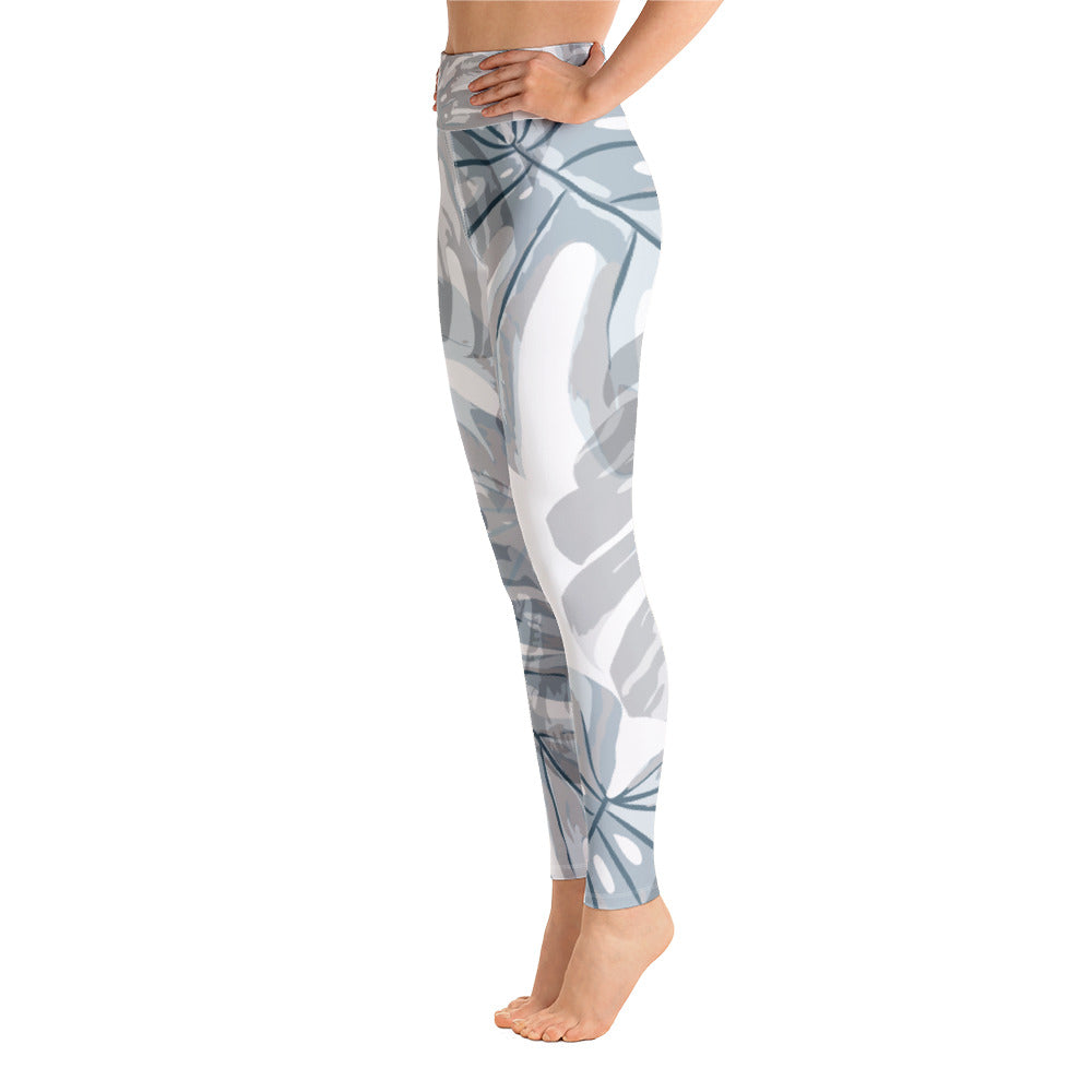 Botanical Leaf Yoga Leggings