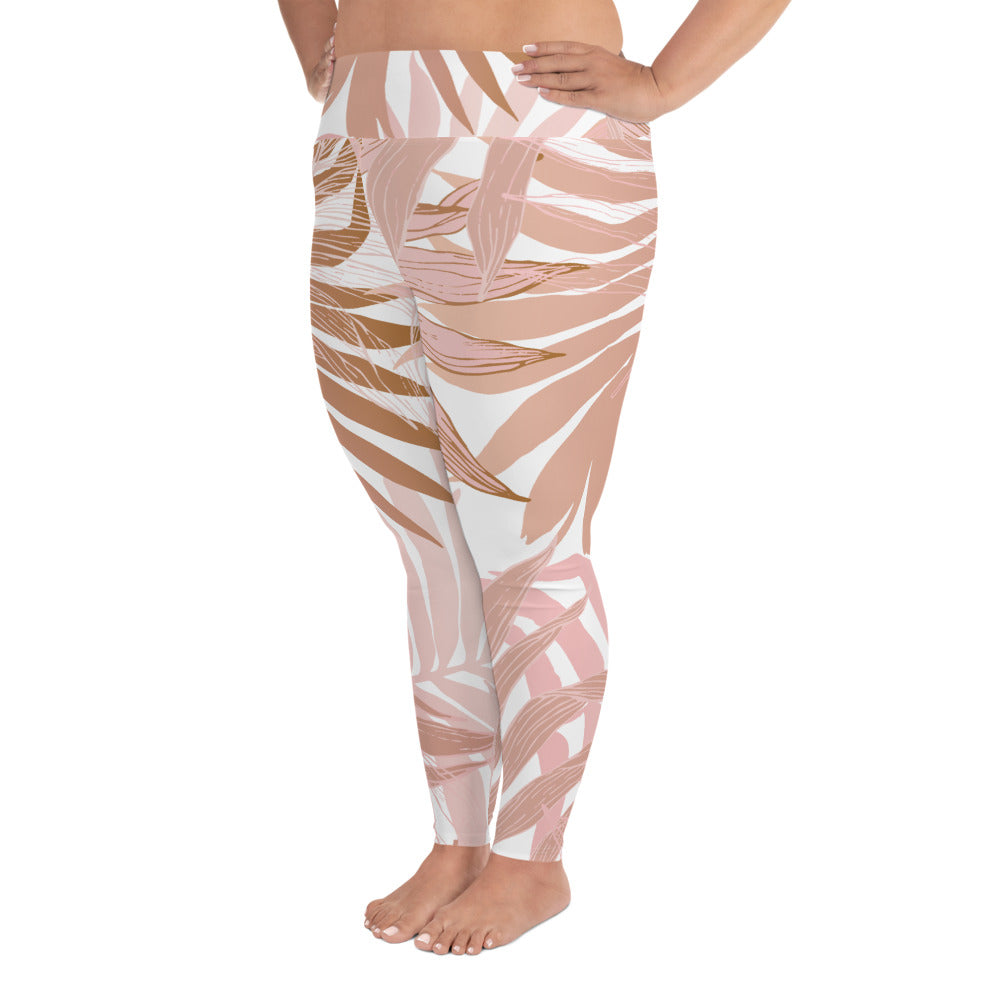 Dusky Palm Curves Yoga Leggings