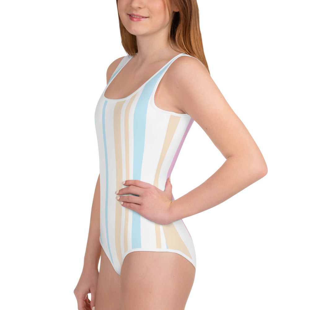 Candy Stripe Junior Swimsuit