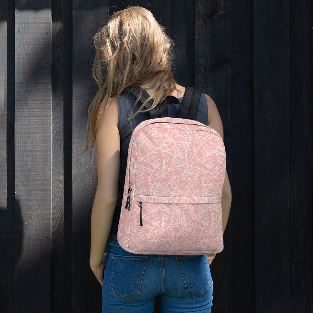 Blush Palm Backpack