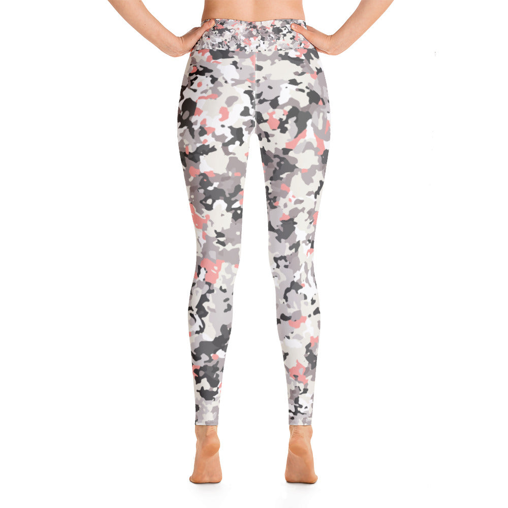 Lavender Camo Yoga Leggings