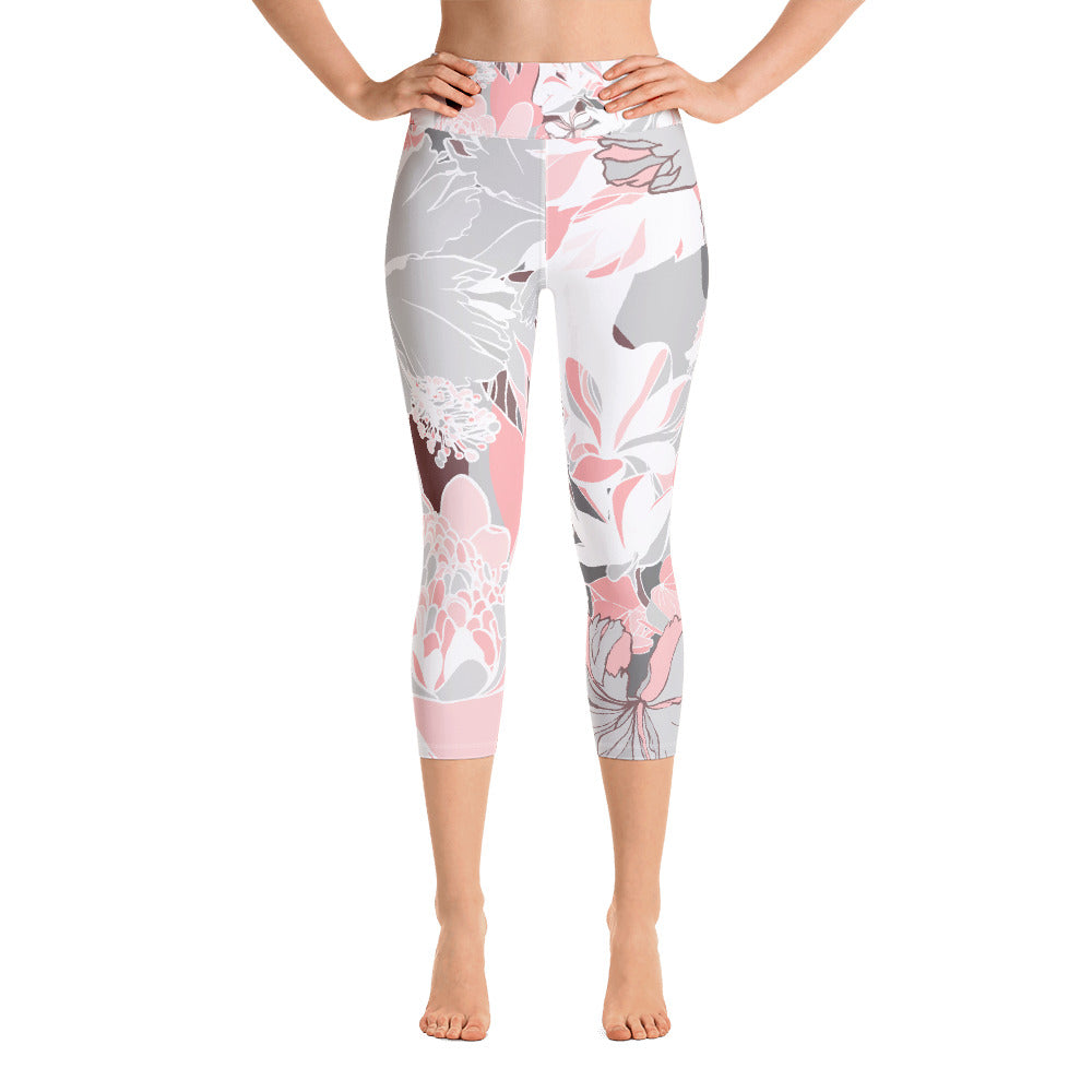 Botanical Yoga Capri Leggings