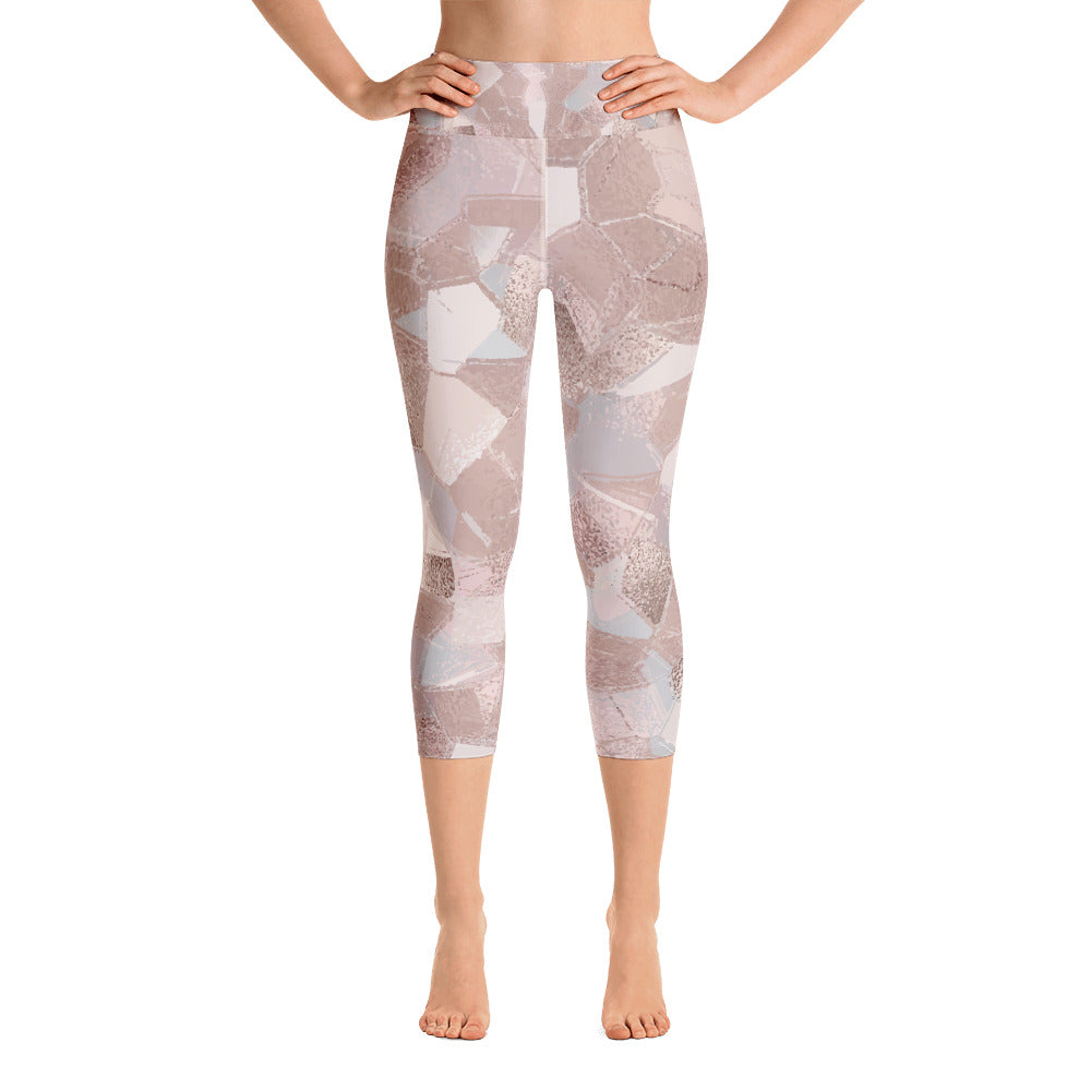 Stained Glass Yoga Capri Leggings
