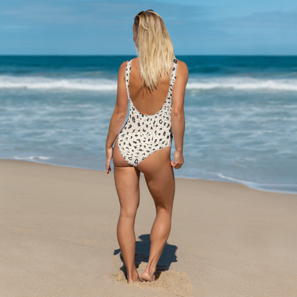Blush Leopard One-Piece