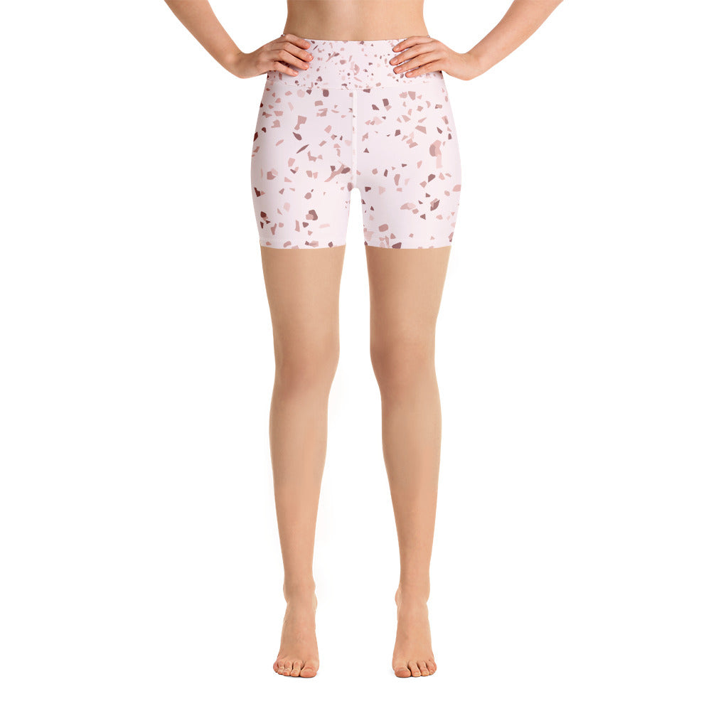 Blush Speckle Yoga Shorts
