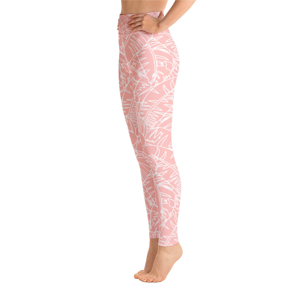 Blush Palm Yoga Leggings
