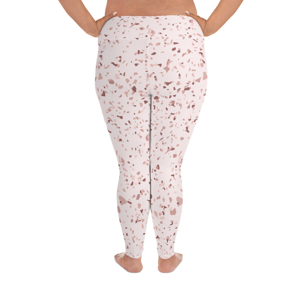Blush Speckle Curve Yoga Leggings