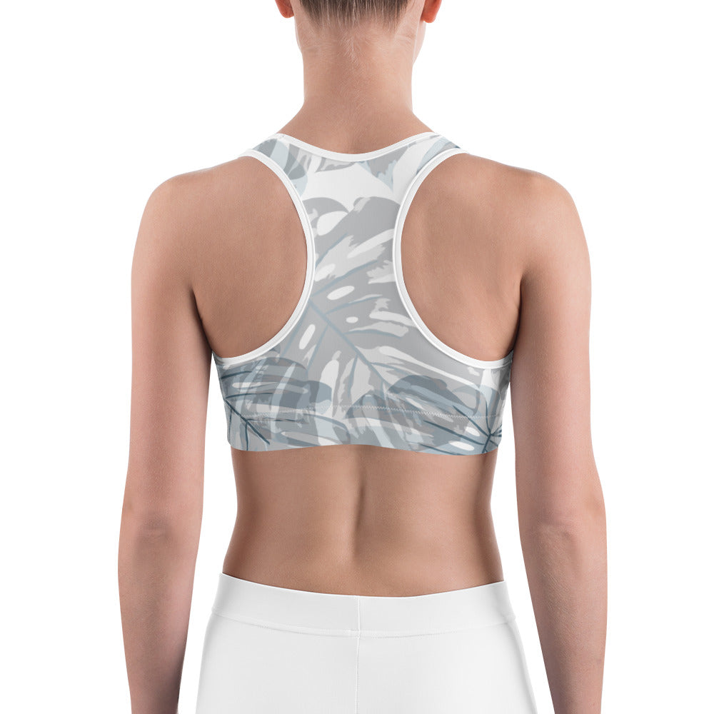 Botanical Leaf Sports bra