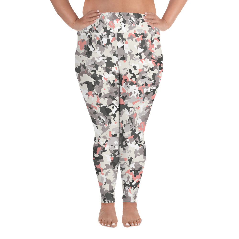 Lavender Camo Curves Yoga Leggings