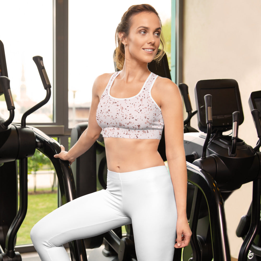 Blush Speckles Sports bra