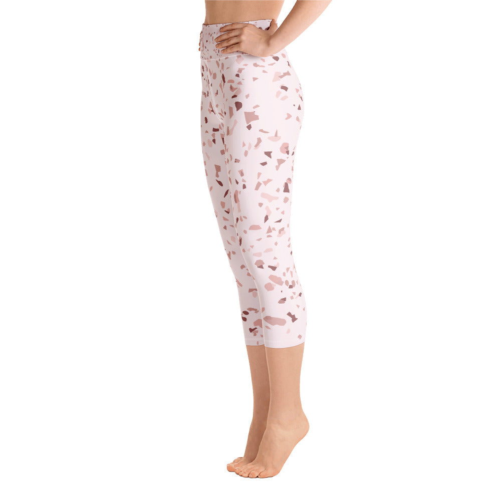 Blush Speckle Yoga Capri