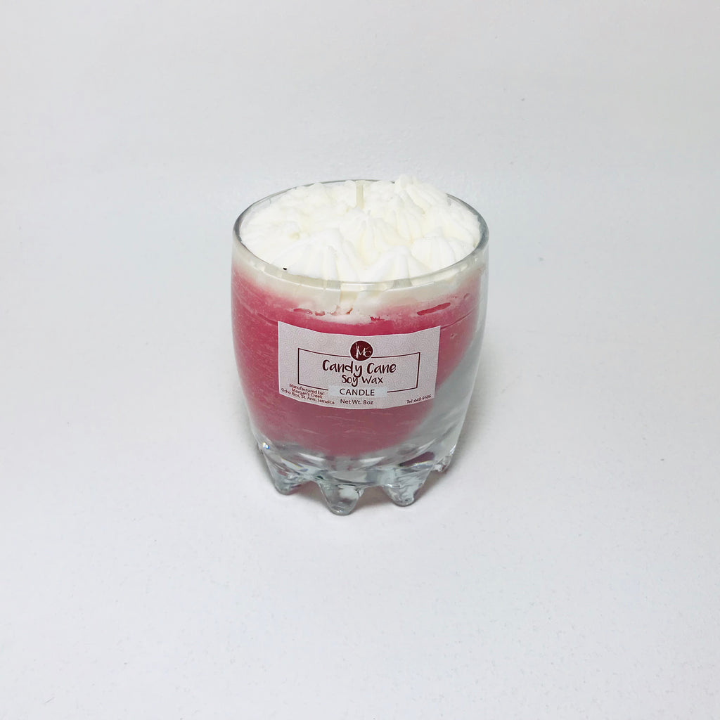 Candy Cane Soy Wax Candle 8oz