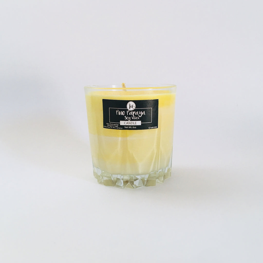 Pine Papaya Soy Wax Candle