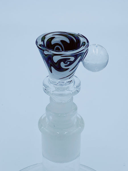 Cheech Glass 14Mm Green Wigwag Bowl