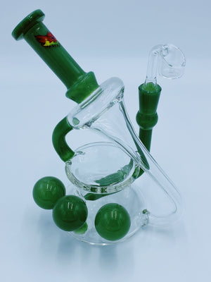 Red Eye Glass Cannon Recycler Rig rigs Red Eye Glass- Smoke Country - Land of the artistic glass blown bongs