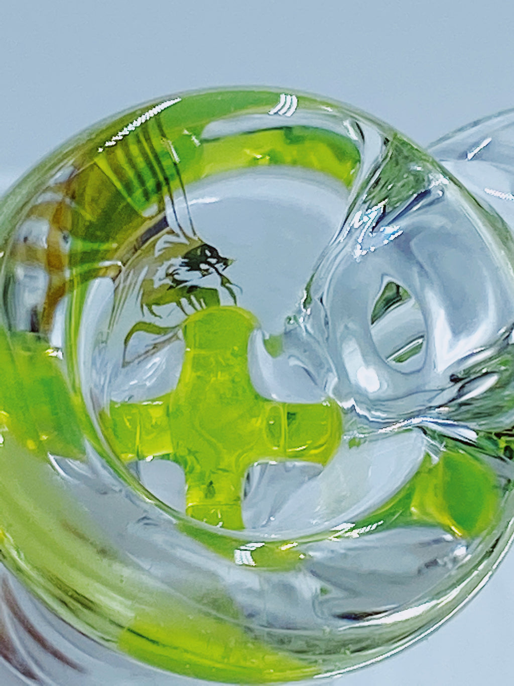 Kobb Glass 14mm Econo Line Slime Bowl - Smoke Country - Land of the artistic glass blown bongs