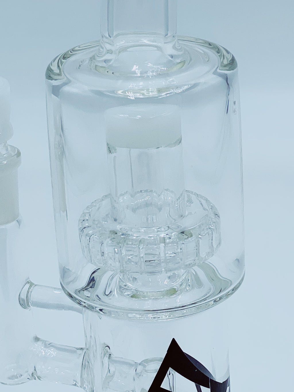 Evolution Glass DOUBLE SHOWER CAP RIG - Smoke Country - Land of the artistic glass blown bongs
